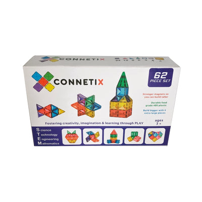 Connetix Magnetic Building Tiles - 62 Piece Set-BabyDonkie