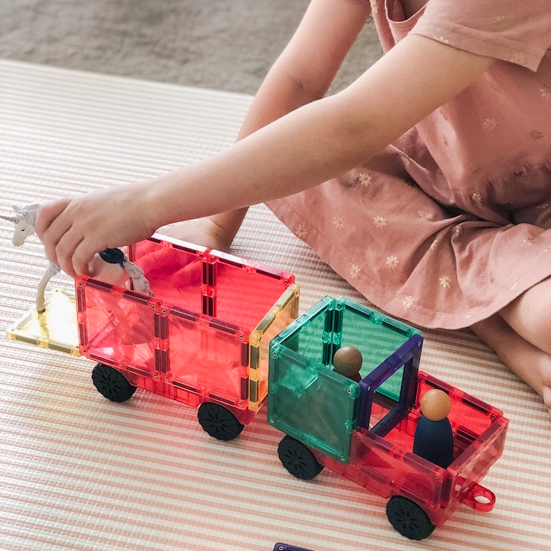 Connetix Tiles - Magnetic Building Tiles - 24 Piece Car Set PRE-ORDER EARLY JUNE-BabyDonkie