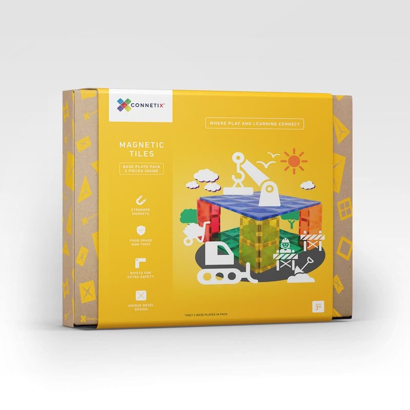 Connetix Tiles - Magnetic Building Tiles - 2 Piece Base Pack