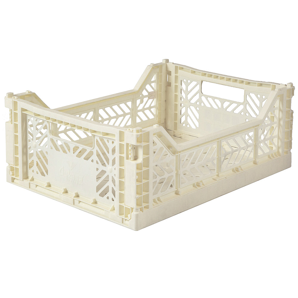 Lillemor Lifestyle Ay-Kasa Midi Folding Crate - Cream