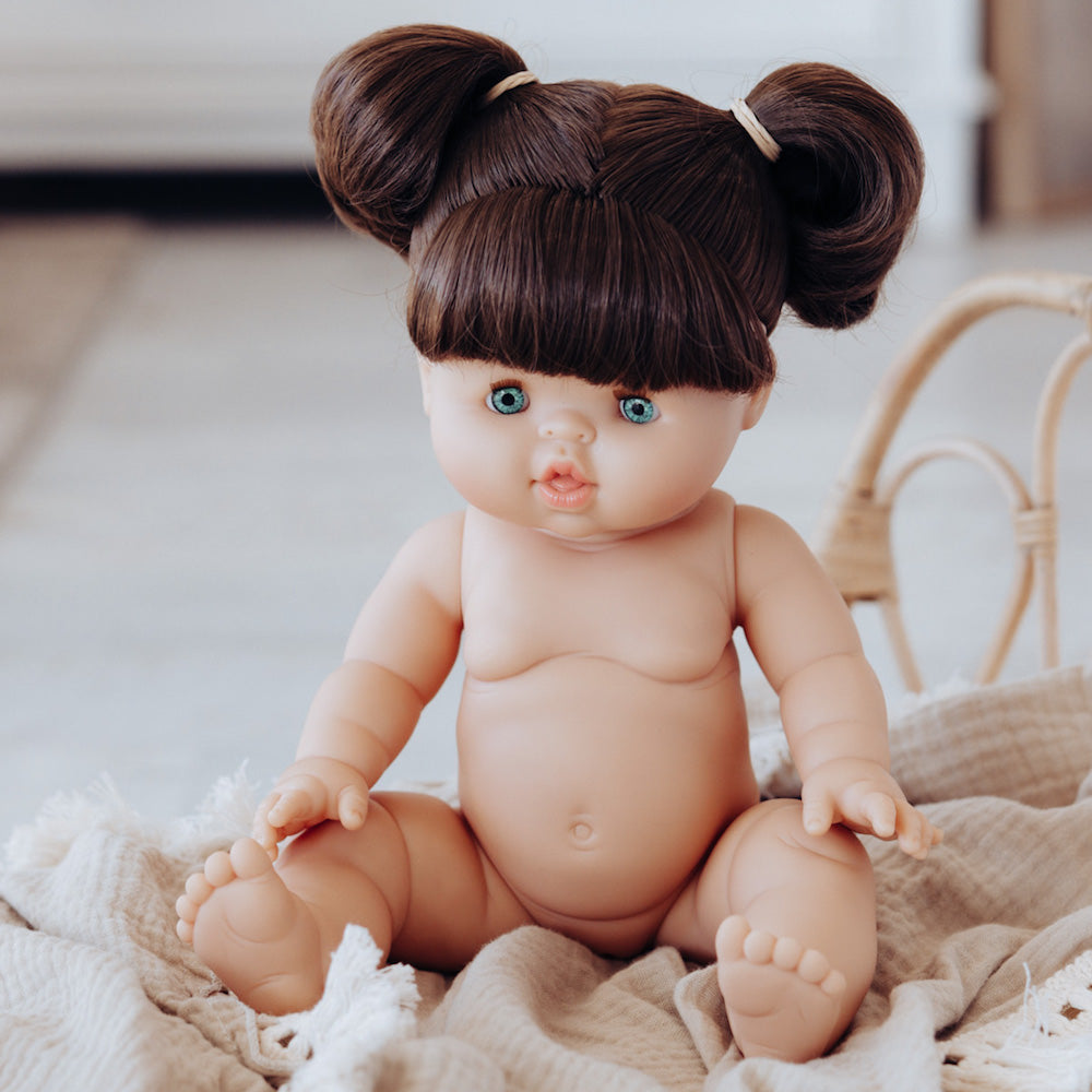 Paola Reina Gordis - DAISY - Brunette Doll with Pigtails 34 cm [DRESSED]-Doll-BabyDonkie