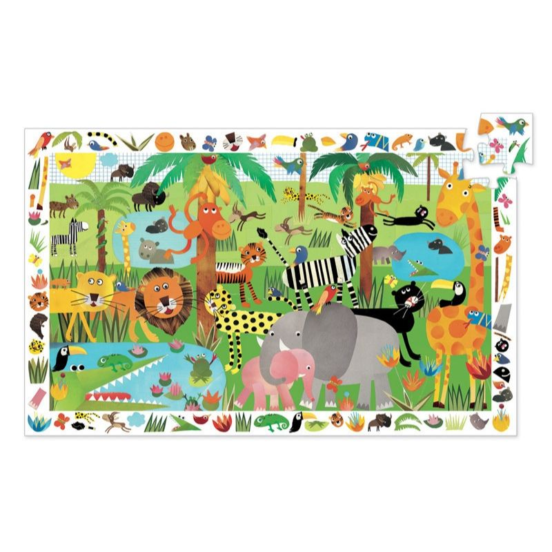 Djeco - Jungle 35pc Observation Puzzle