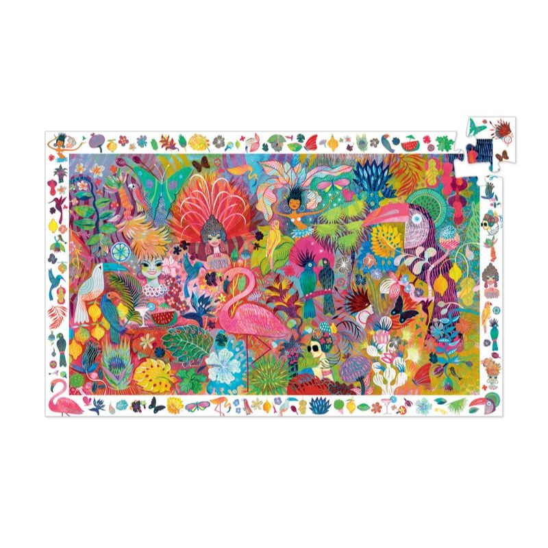 Djeco - Rio Carnaval 200pc Observation Puzzle-Puzzle-BabyDonkie