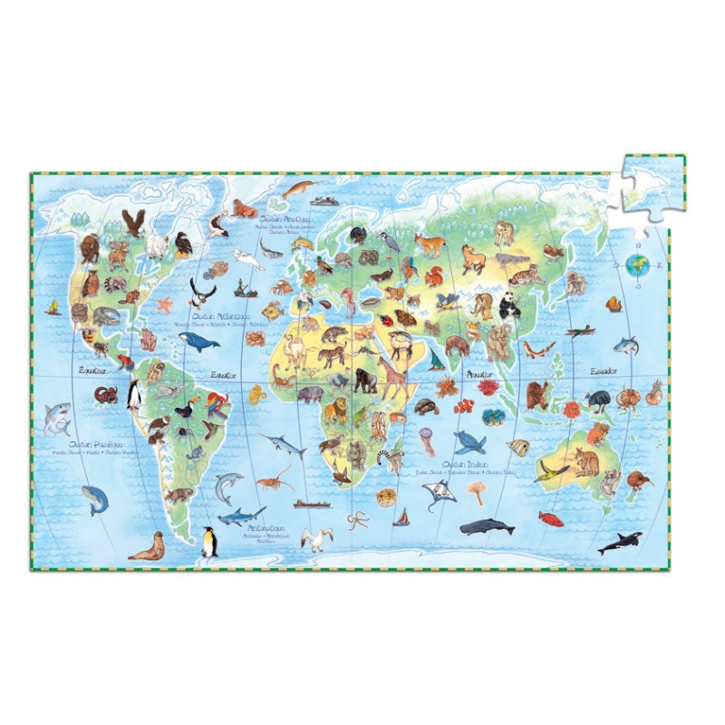 Djeco - World Animals 100pc Observation Puzzle-Puzzle-BabyDonkie