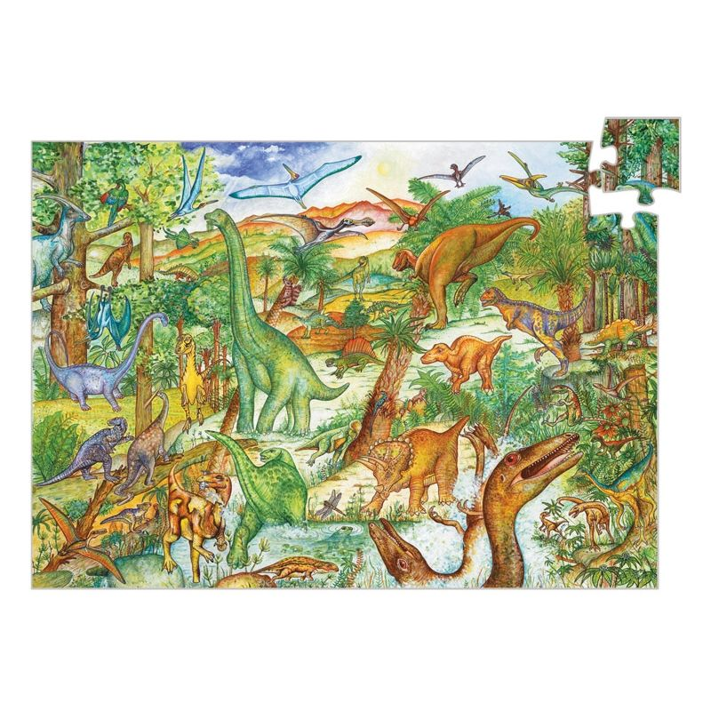 Djeco - Dinosaurs 100pc Observation Puzzle PRE-ORDER EARLY APRIL