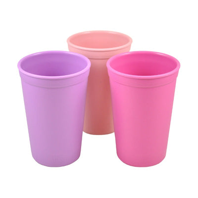 Replay Bowl Tumbler Cup and Utensils Packaged Set - Baby Pink, Purple and Bright Pink-Dinnerware-BabyDonkie