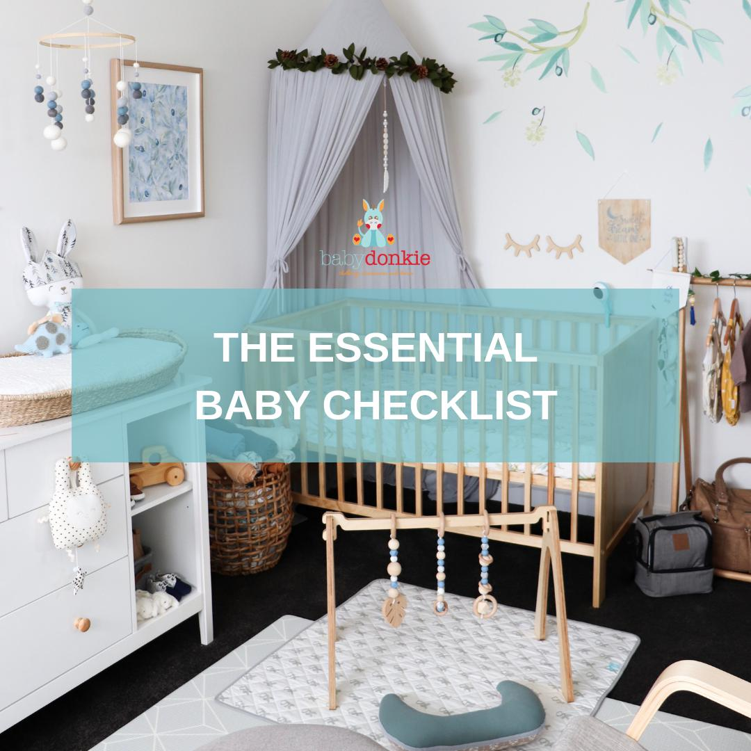The Essential Baby Checklist-BabyDonkie