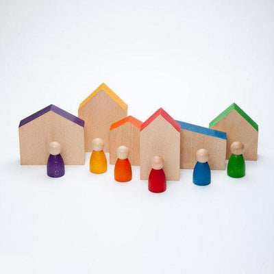 Grapat Houses and Nins-Wooden Toy-BabyDonkie