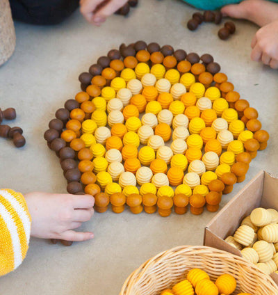 Grapat Mandala - Yellow Honeycomb-Wooden Toy-BabyDonkie