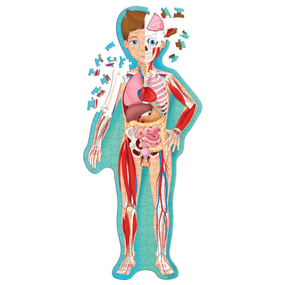 Sassi Travel Learn and Explore - The Human Body Puzzle & Book Set - 205 pcs-Puzzle-BabyDonkie