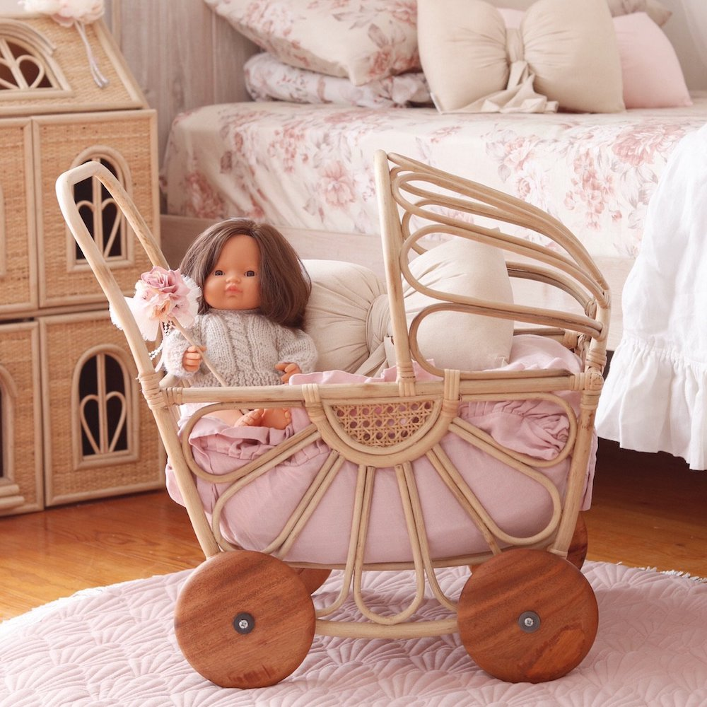 Juni Moon Rattan Primrose Pram PRE-ORDER EARLY OCT