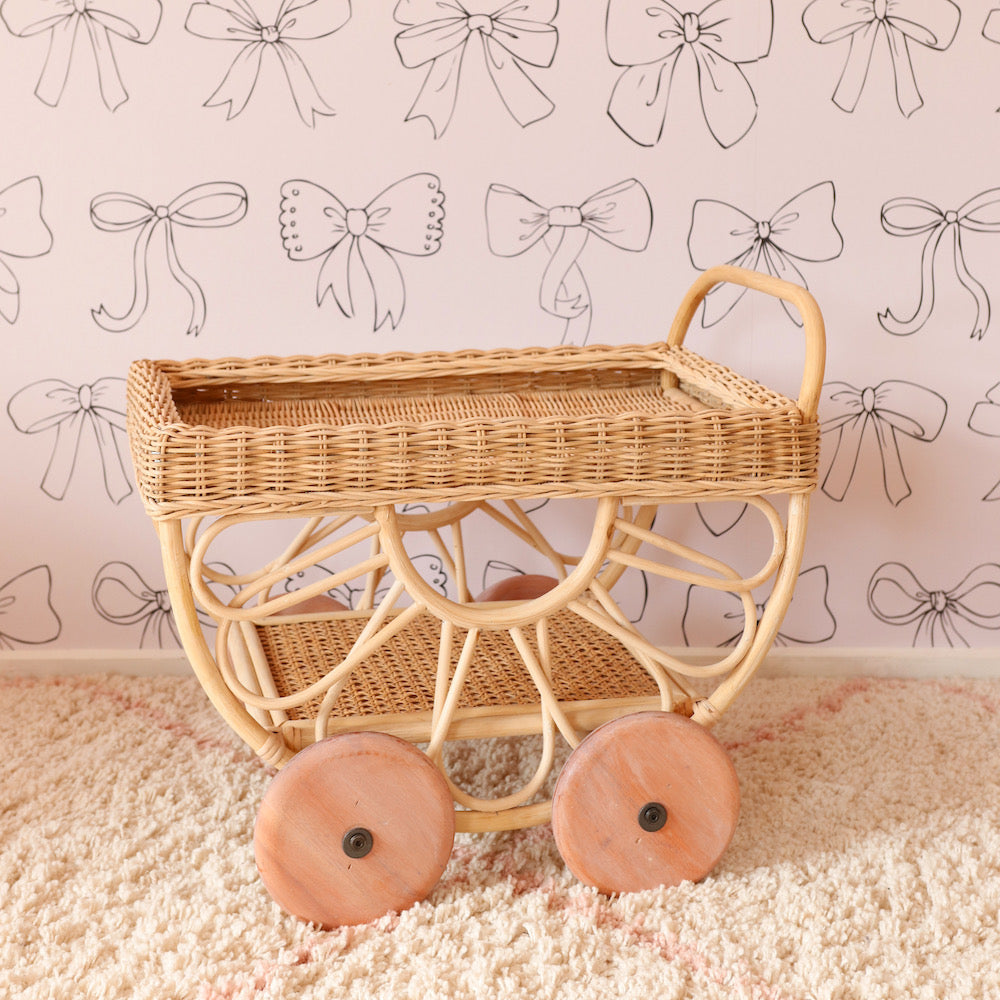Juni Moon Rattan Tea Cart PRE-ORDER END SEPT/EARLY OCT