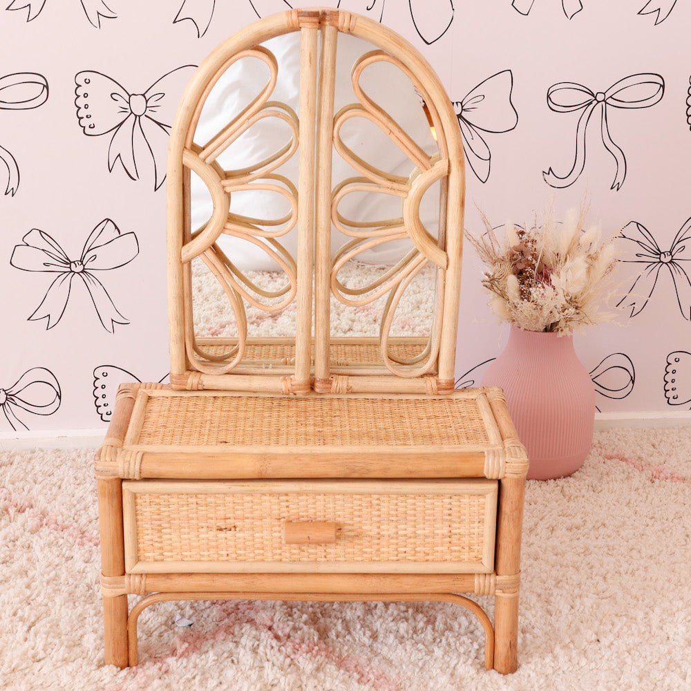 Juni Moon Rattan Vanity PRE-ORDER END SEPT/EARLY OCT-Toys-BabyDonkie