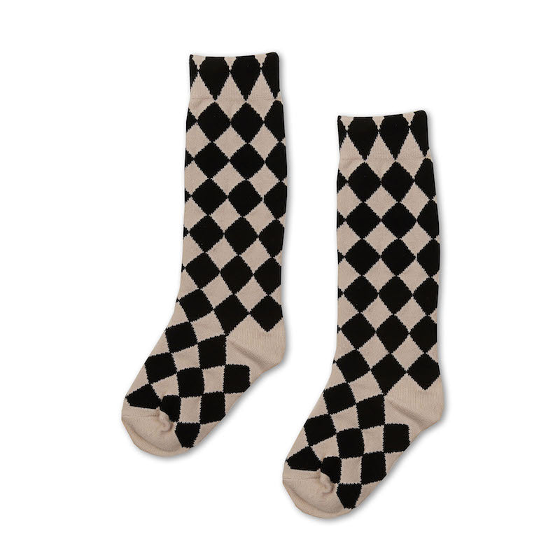 Kapow Kids Harlequin Knee High Socks-Accessories-BabyDonkie