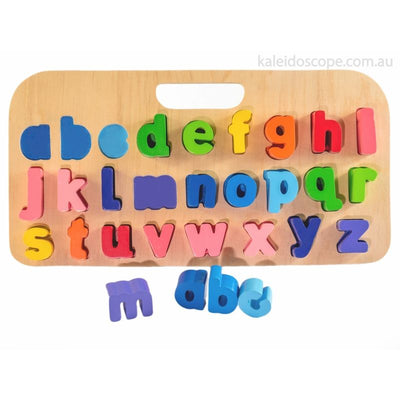 Kiddie Connect Carry Around ABC Lower Case Puzzle-Wooden Toy-BabyDonkie