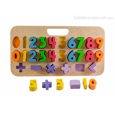Kiddie Connect Carry Around 123 Number Puzzle-Wooden Toy-BabyDonkie