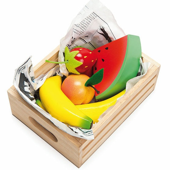 Le Toy Van HoneyBake Wooden Fruit Crate-Toys-BabyDonkie
