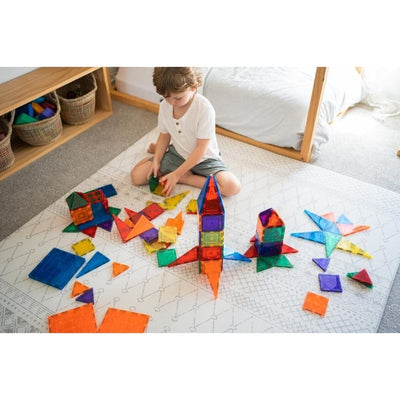 Learn and Grow Toys - Magnetic Tiles - 110 Piece Set