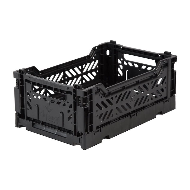 Lillemor Lifestyle Ay-Kasa Mini Folding Crate - Black-Storage-BabyDonkie