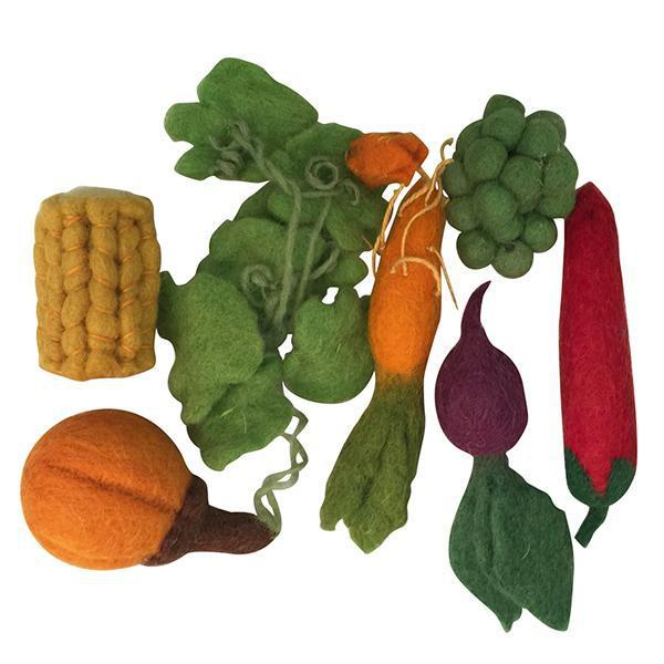Papoose Toys Felt Food - Mini Vege Boxed Set-Toys-BabyDonkie