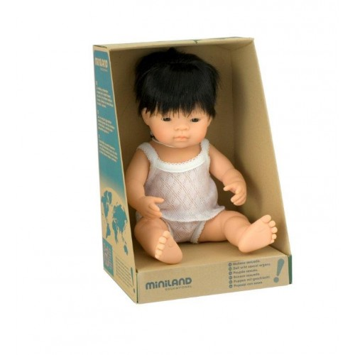 Miniland Doll Asian Boy – 38cm-Doll-BabyDonkie