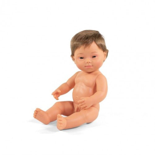Miniland Doll Caucasian Down Syndrome Boy – 38cm