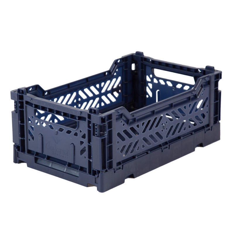 Lillemor Lifestyle Ay-Kasa Mini Folding Crate - Navy-Storage-BabyDonkie