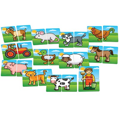 Orchard Toys - Farm Yard Heads & Tails Game-BabyDonkie