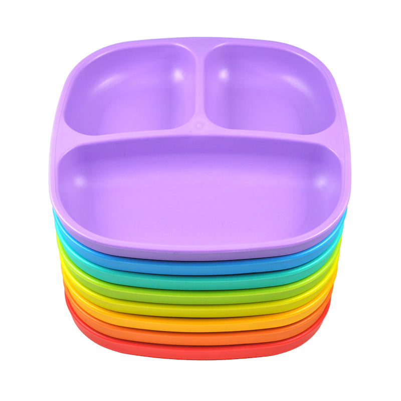 Replay 8 Piece Rainbow Set - Divided Plates-Dinnerware-BabyDonkie