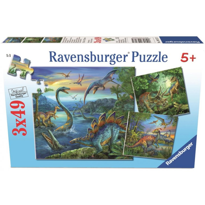 Ravensburger Puzzle - Dinosaur Fascination Puzzle 3x49 pieces