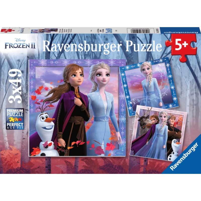 Ravensburger Puzzle - Frozen 2 The Journey Starts 3x49 pieces-Puzzle-BabyDonkie