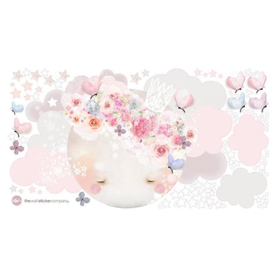 Schmooks - Sleepy Moon Wall Stickers - Pink-BabyDonkie