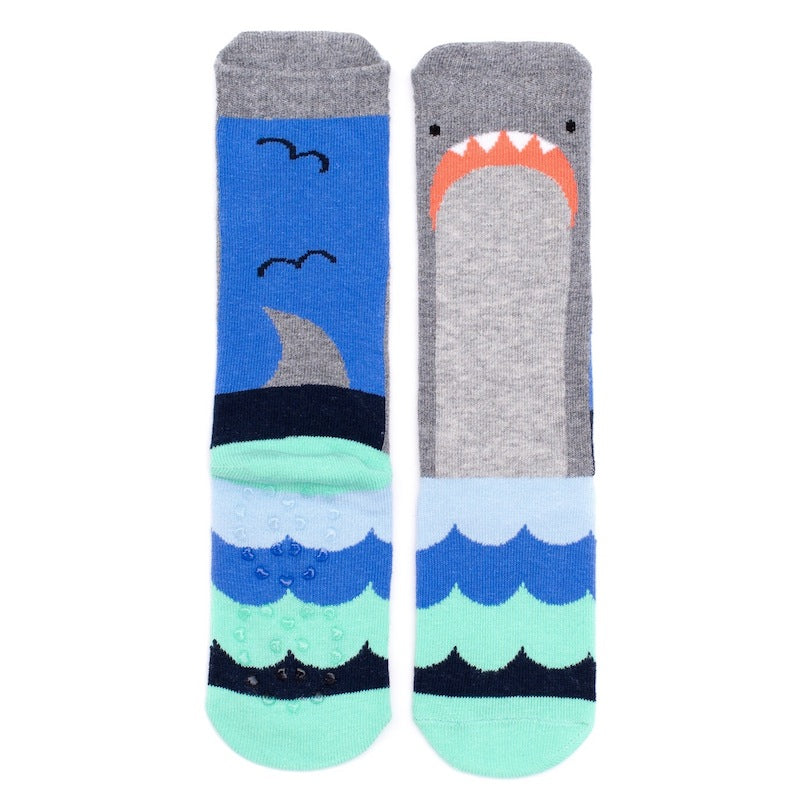 Billy Loves Audrey Shark Socks-Clothing-BabyDonkie