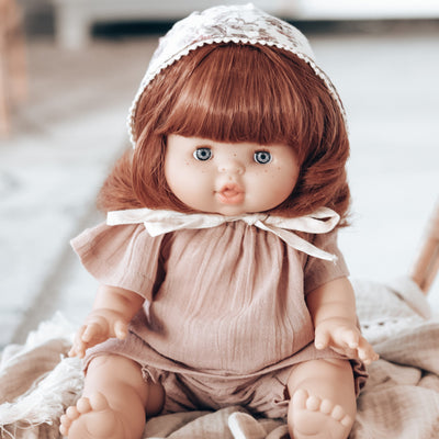 Paola Reina Gordis - SUMMER - Red Head Doll with Pigtails 34 cm [DRESSED]-Doll-BabyDonkie