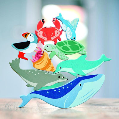 Tender Leaf Toys Wooden Animal - Whale-Toys-BabyDonkie