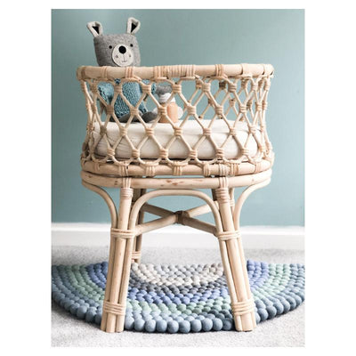 Tiny Harlow Rattan Dolls Bassinet PRE-ORDER LATE MAY-Toys-BabyDonkie