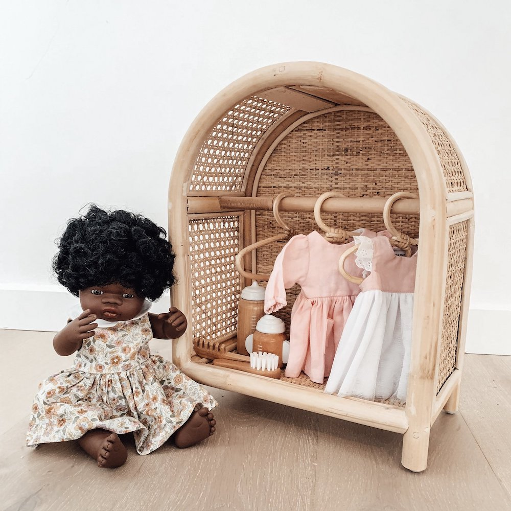 Tiny Harlow Rattan Dolls Storage Station