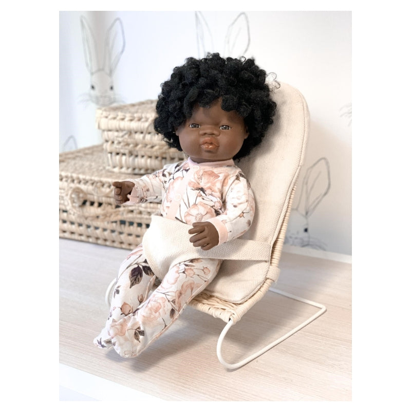 Tiny Harlow Rattan Dolls Bouncer-BabyDonkie