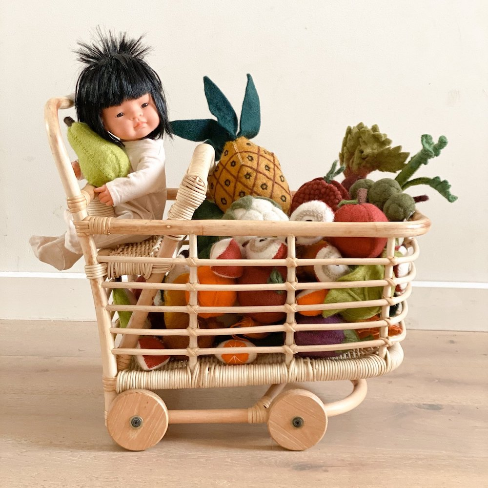 Tiny Harlow Rattan Shopping Trolley PRE ORDER MID/LATE SEPTEMBER