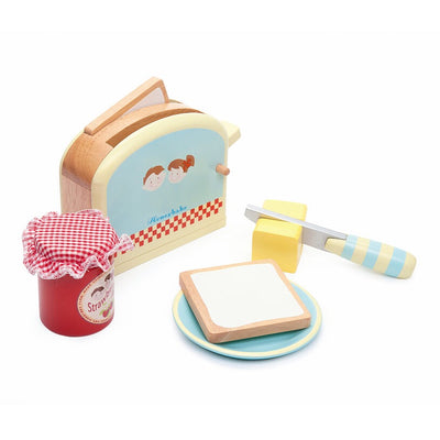 Le Toy Van HoneyBake Wooden Toaster Set-Toys-BabyDonkie