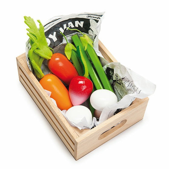 Le Toy Van HoneyBake Wooden Harvest Vegetables Set-Toys-BabyDonkie