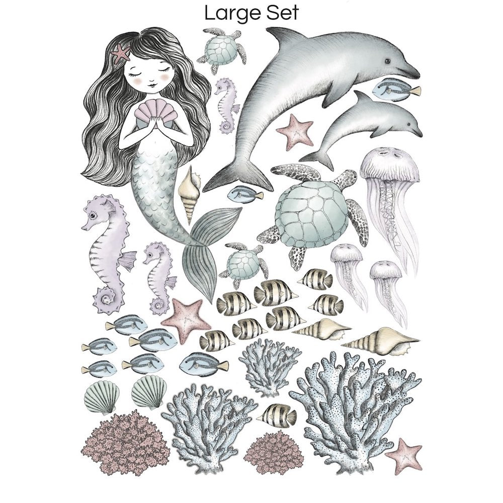Wondermade - Mermaid & Sea creatures Wall Decal-BabyDonkie