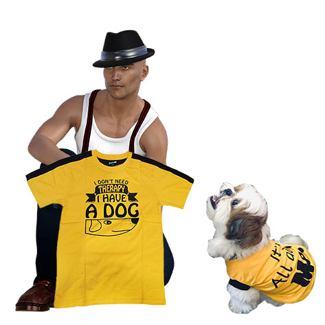 Me & My Dog Combo T-Shirt - A Knock Out Walking Combo That Turns Every Head!