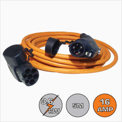 Type 1 16A 5m EV Charging Cable
