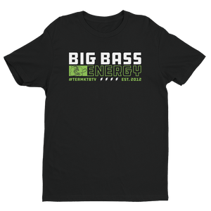 Open image in slideshow, Premium BIG BASS ENERGY T-Shirt (Black)