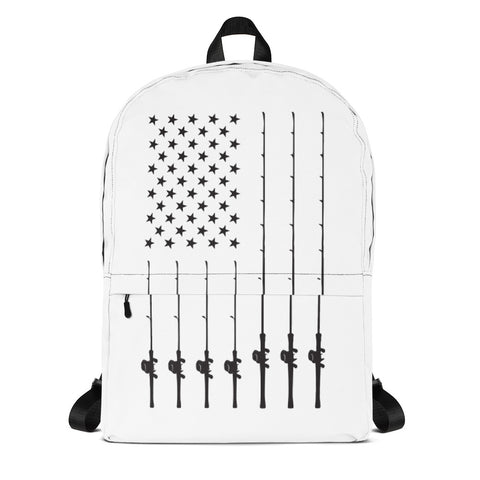 Fishing American Flag Backpack