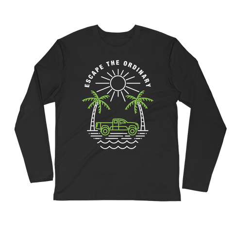 Escape The Ordinary Front Long Sleeve (Black)
