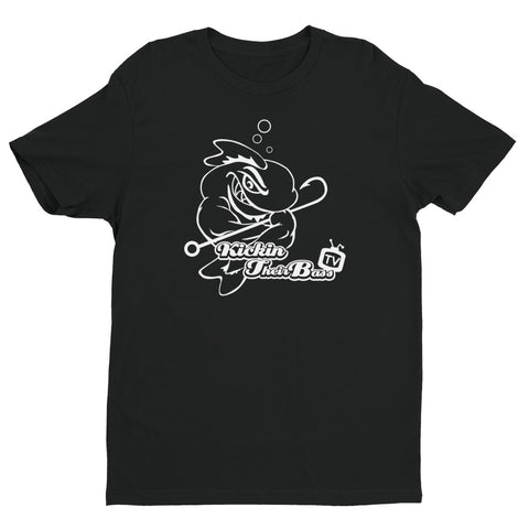Premium KTBTv Muscle Fish Outline T-Shirt (Black)