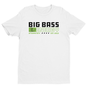 Open image in slideshow, Premium BIG BASS ENERGY T-Shirt (White)