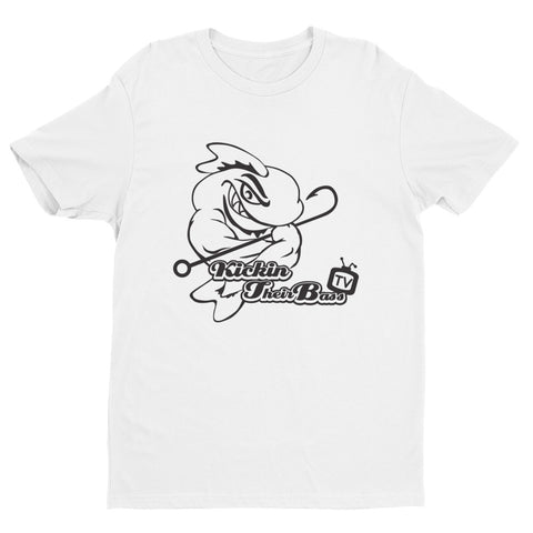 Premium KTBTv Muscle Fish Outline T-Shirt (White)